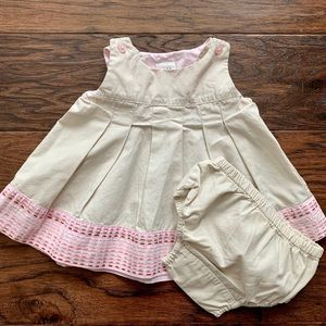 Baby Gap Khaki Dress with Bloomers